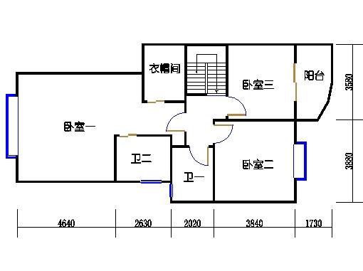 C栋1跃2层A单元上层