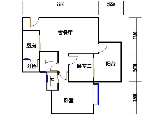 17号楼A座偶数层02单元