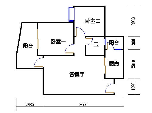 17号楼A座偶数层05单元