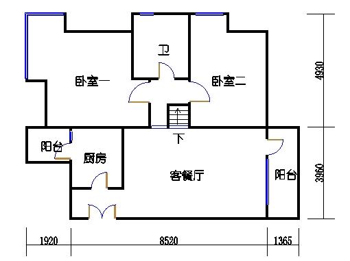 2C2单元奇数层二层