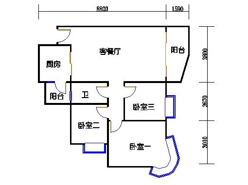 E1栋3-31层02单元