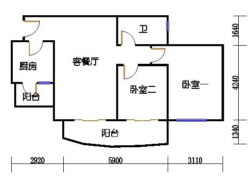 E1栋3-31层08单元