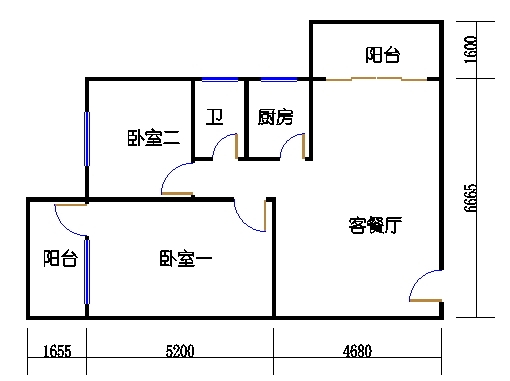 8层C梯01单元