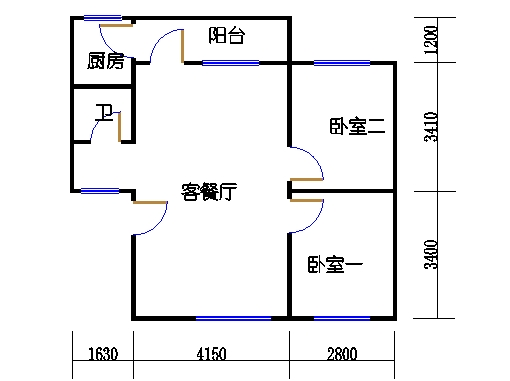 2-9层B梯01单元