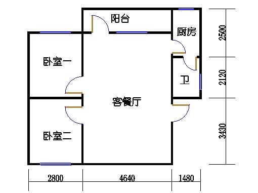 2-9层C梯01单元