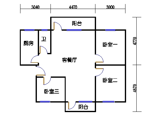 2-5层A梯01单元
