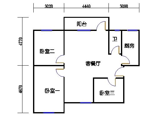 2-5层B梯03单元