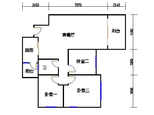 10号楼11层B座03单元