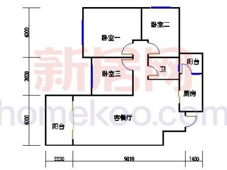 10号楼4层C-03单元