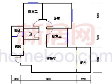 10号楼5-8层A-04单元