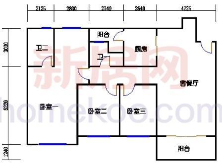 10号楼5-8层C-01单元