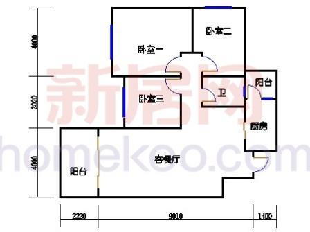 10号楼5-8层C-03单元
