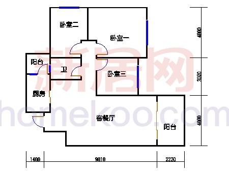 10号楼5-8层C-04单元