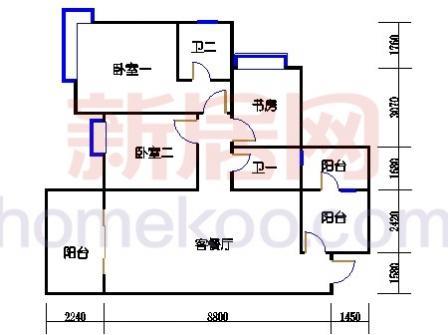 1栋701室(B2)
