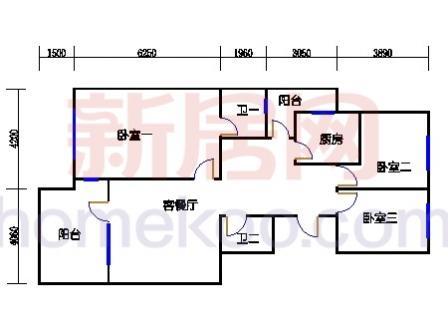 2号楼奇数层C1单元