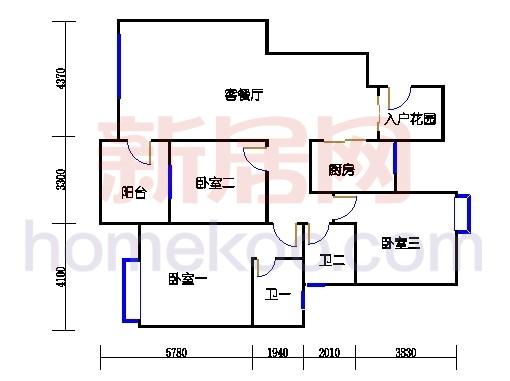 2-11层3C-1H单元