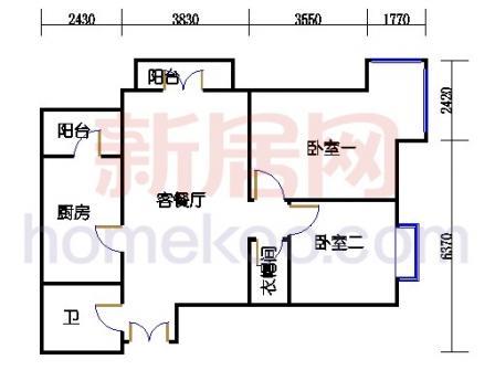 6#楼4单元K户型