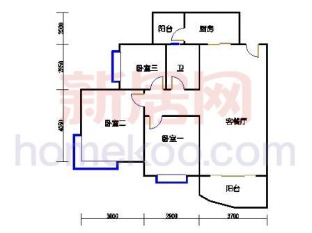 D2号楼3-17层04单元