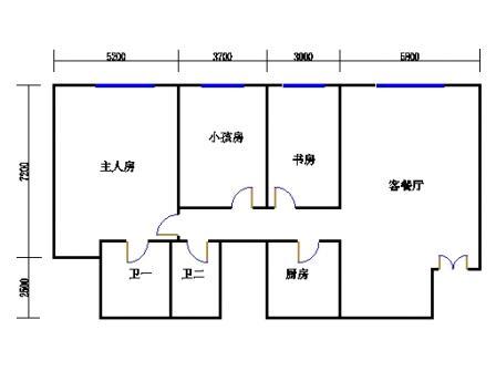 大三房二厅