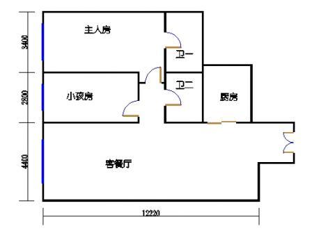 大二房二厅