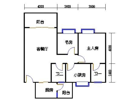 2号楼第1幢二层04单元