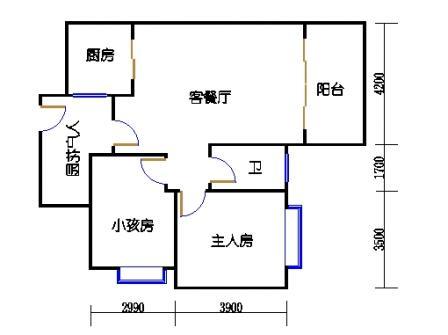 2号楼第3幢二层02单元