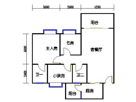 2号楼第3幢二层03单元