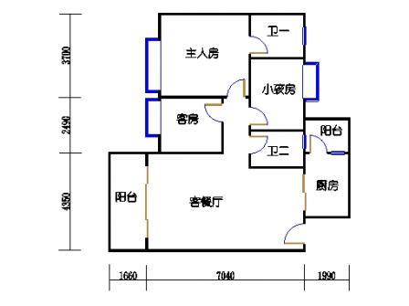 2号楼第1幢三层04单元