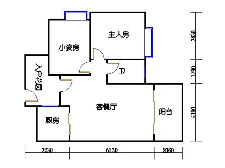 2号楼第3幢三层01单元