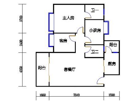 2号楼第3幢三层04单元