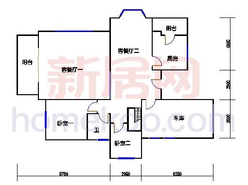A1型别墅1层