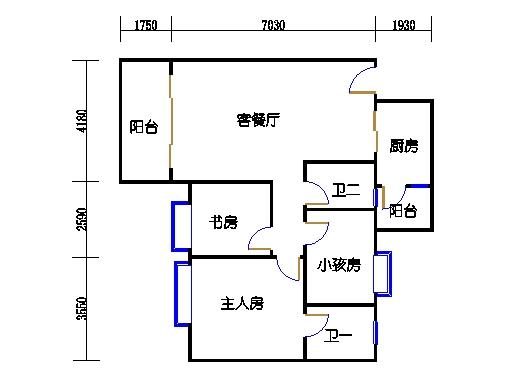 2号楼第3幢四层03单元