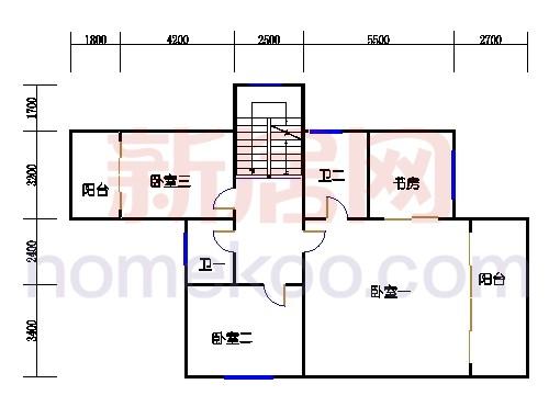 A1型别墅2层