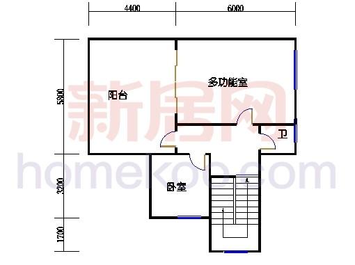 A1型别墅3层