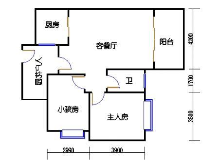 1号楼第3幢三层02单元
