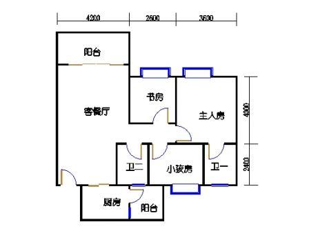 1号楼第3幢三层04单元