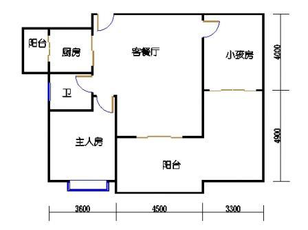 1号楼第1幢四-九层01单元
