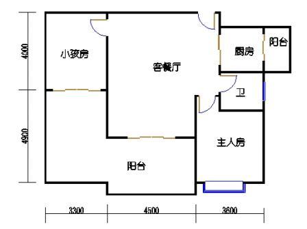 1号楼第3幢四-九层02单元