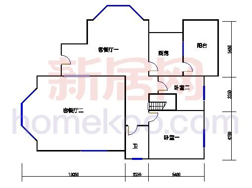 B1型别墅1层