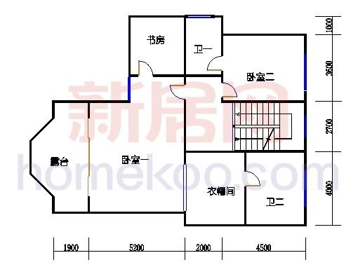 B1型别墅2层