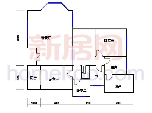 B3型别墅1层