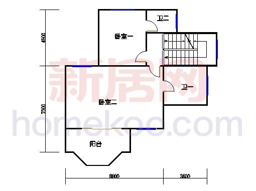 B3型别墅2层