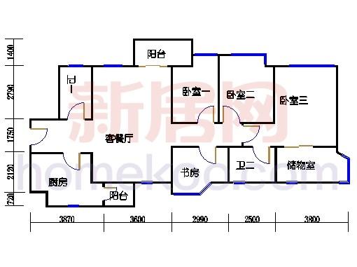 A1号楼7-34层07单元