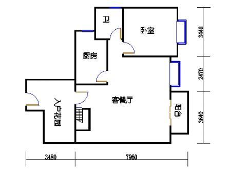52-56号楼复式03单元一层