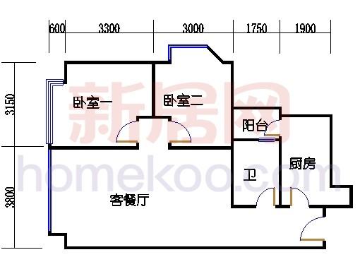 A1号楼3-6层06单元