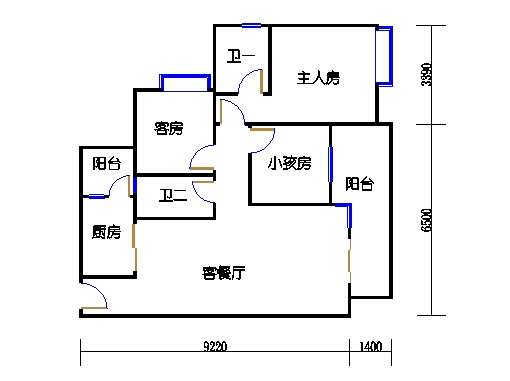 A3栋4~10层01单元