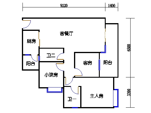 A4栋4~10层02单元