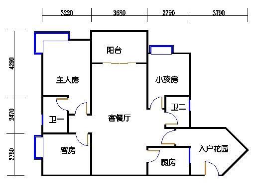 A4栋4~10层04单元