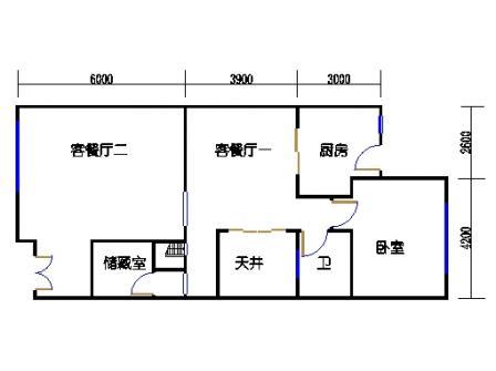 E-e1-6型首层01单元