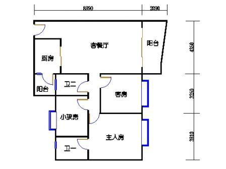 云湖湾A1A2A3-3层02单元